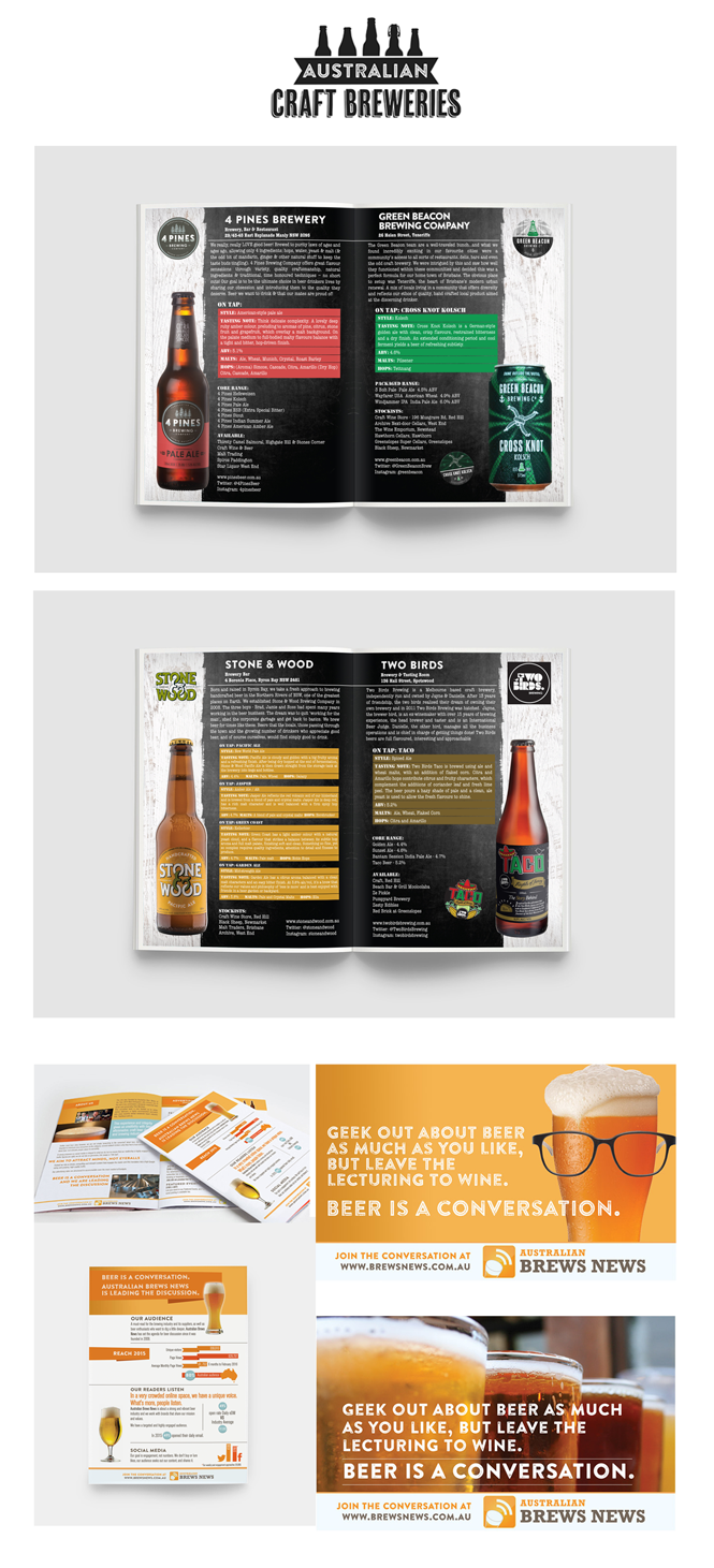 Catalogue Design For Australian Craft Breweries Showcasing
